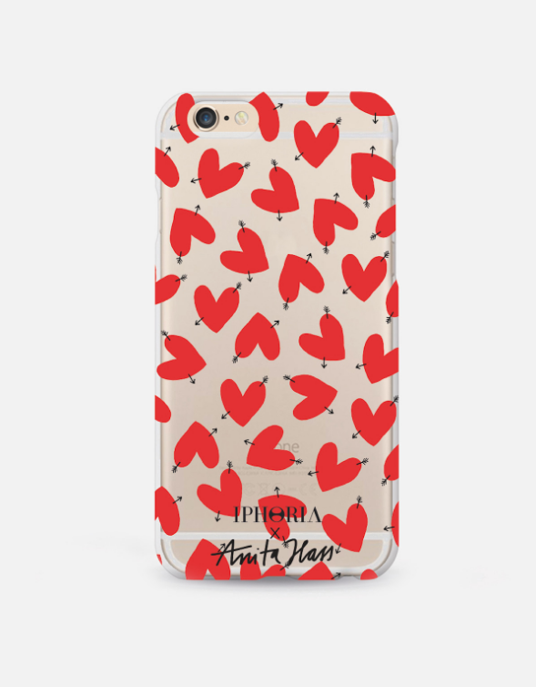 iPhone Case by Iphoria x Anita Hass Transparent Case Hearts (40 €)